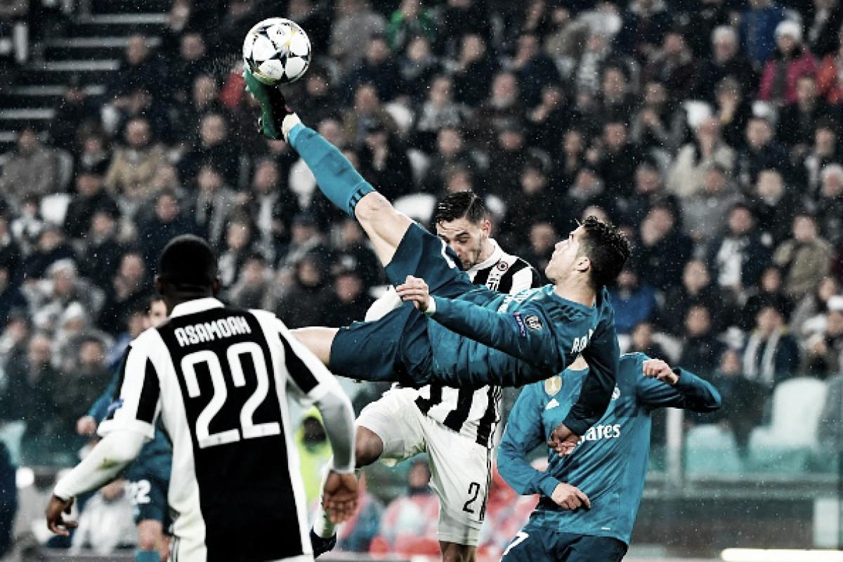 Ronaldo marca golaço de bicicleta, é ovacionado e conduz goleada do Real Madrid sobre Juventus