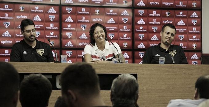 Cristiane é apresentada no São Paulo e treina para o primeiro duelo no Brasileiro A2