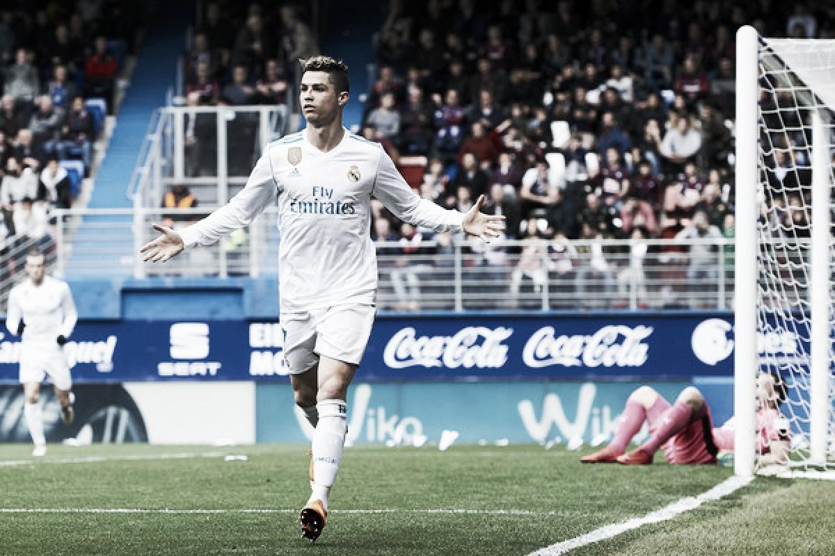 CR7 decide, Real Madrid vence Eibar fora de casa e encosta na vice-liderança