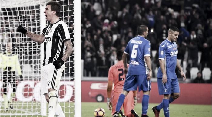 La Juve batte l'Empoli, Allegri ed Alex Sandro parlano nel dopo-gara