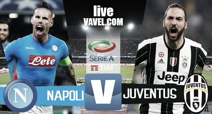Terminata Napoli - Juventus in Serie A 2016/17 (1-1): Khedira la sblocca, pareggia Hamsik
