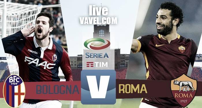 Terminata Bologna - Roma in Serie A 2016/17 (0-3): Reti di Fazio, Salah e Dzeko