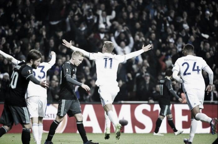 Europa League - Dolberg non basta, gli errori puniscono l'Ajax: all'andata il Copenaghen vince 2-1