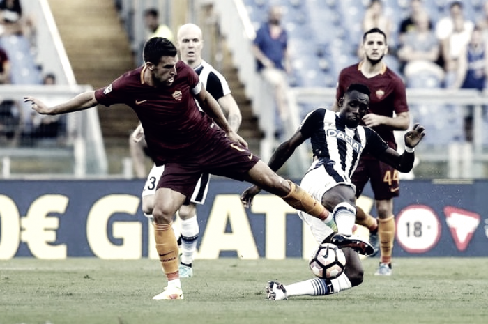 Udinese-Roma terminata in Serie A 2016/17 (0-1): Nainggolan decisivo