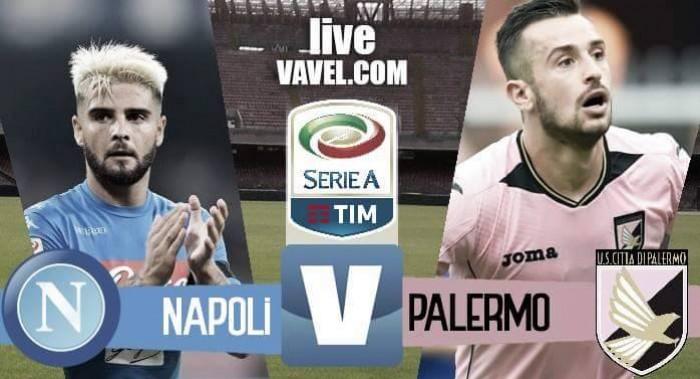Risultato Napoli - Palermo in Serie A 2016/17 (1-1): Nestorovski-Mertens, espulso Goldaniga