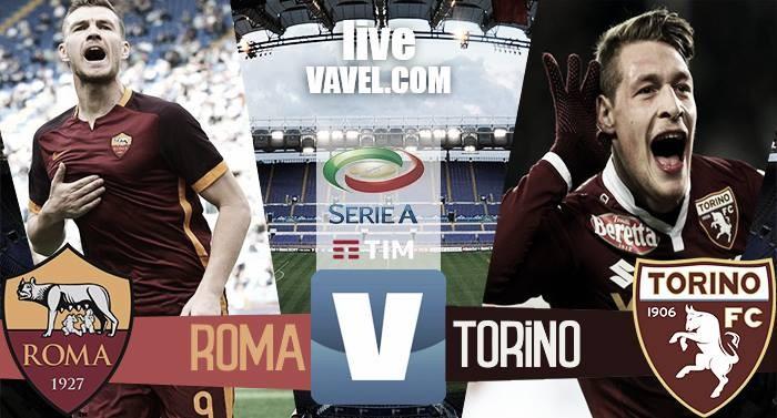 Terminata Roma - Torino in Serie A 2016/17 (4-1): Dzeko-Salah-Paredes-Nainggolan, inutile Lopez