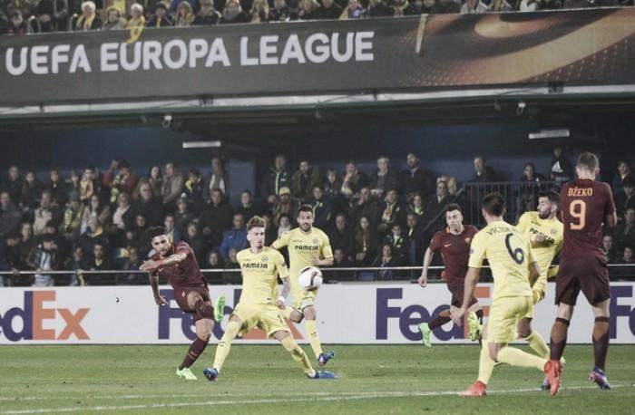 Europa League - Emerson la sblocca, Dzeko fa tripletta: la Roma vede gli ottavi, 0-4 al Villarreal
