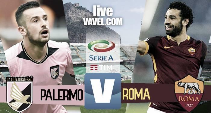 Terminata Palermo - Roma in Serie A 2016/17 (0-3): Gol di El Shaarawy, Dzeko e Bruno Peres