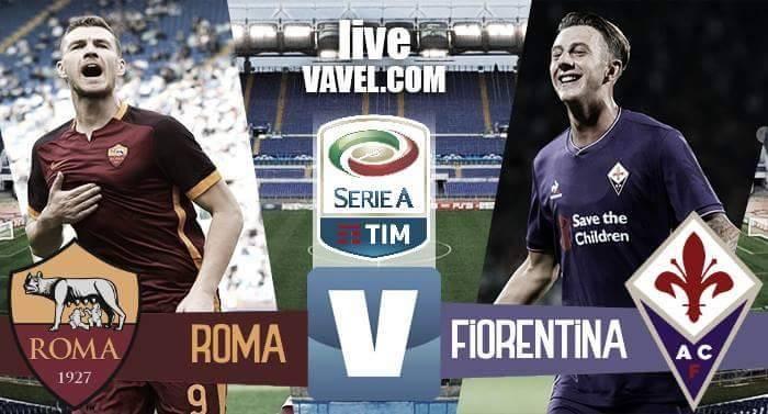 Risultato Roma-Fiorentina in Serie A 2016/17 (4-0): Dzeko x2, in mezzo Fazio e Nainggolan