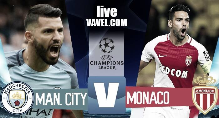 Terminata Manchester City - AS Monaco in Champions League 2016/17 (5-3): Aguero decisivo