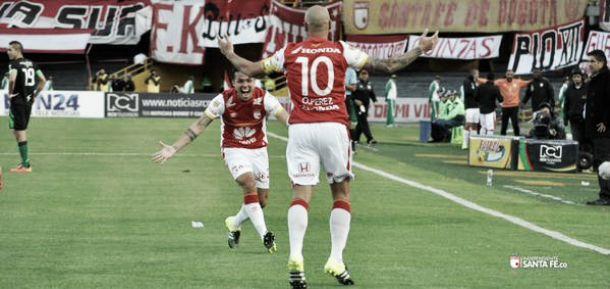 Santa Fe ganó, goleó y gustó en el inicio de la Liga Águila-II