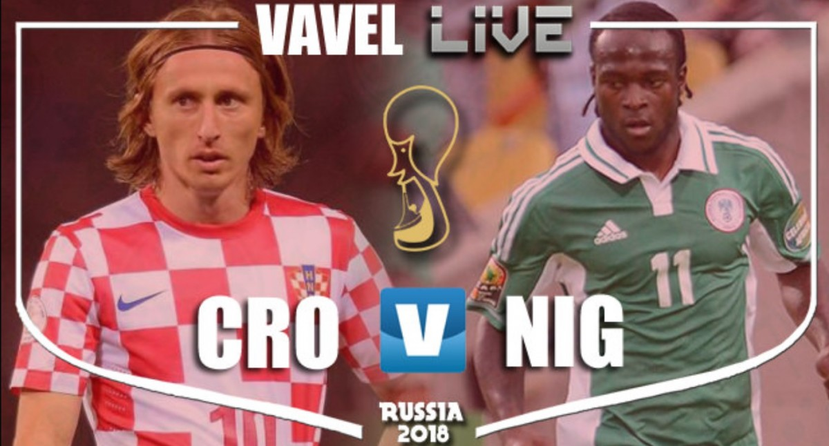As it happened: A goal either side of half-time sees Croatia top Group D after Nigeria triumph