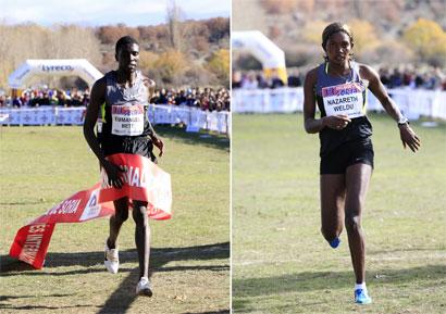 Emmanuel Bett y Nazareth Wildu vencen en el XIX Cross Internacional de Soria