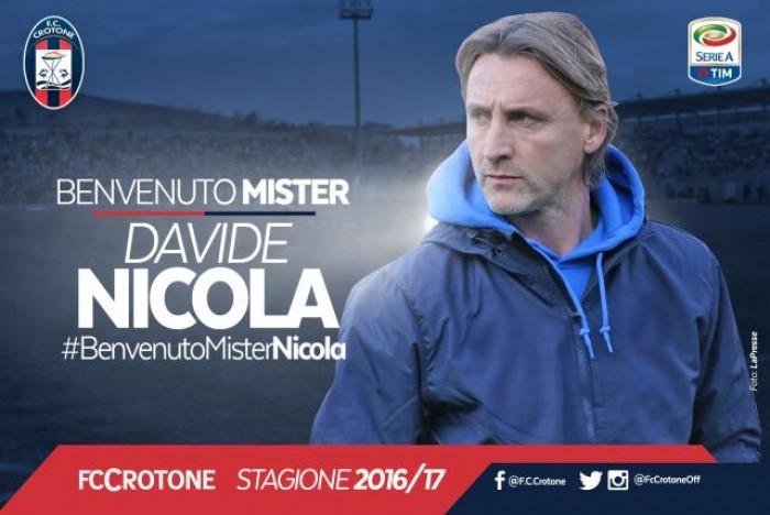 Il Crotone ha scelto: Nicola è il nuovo allenatore