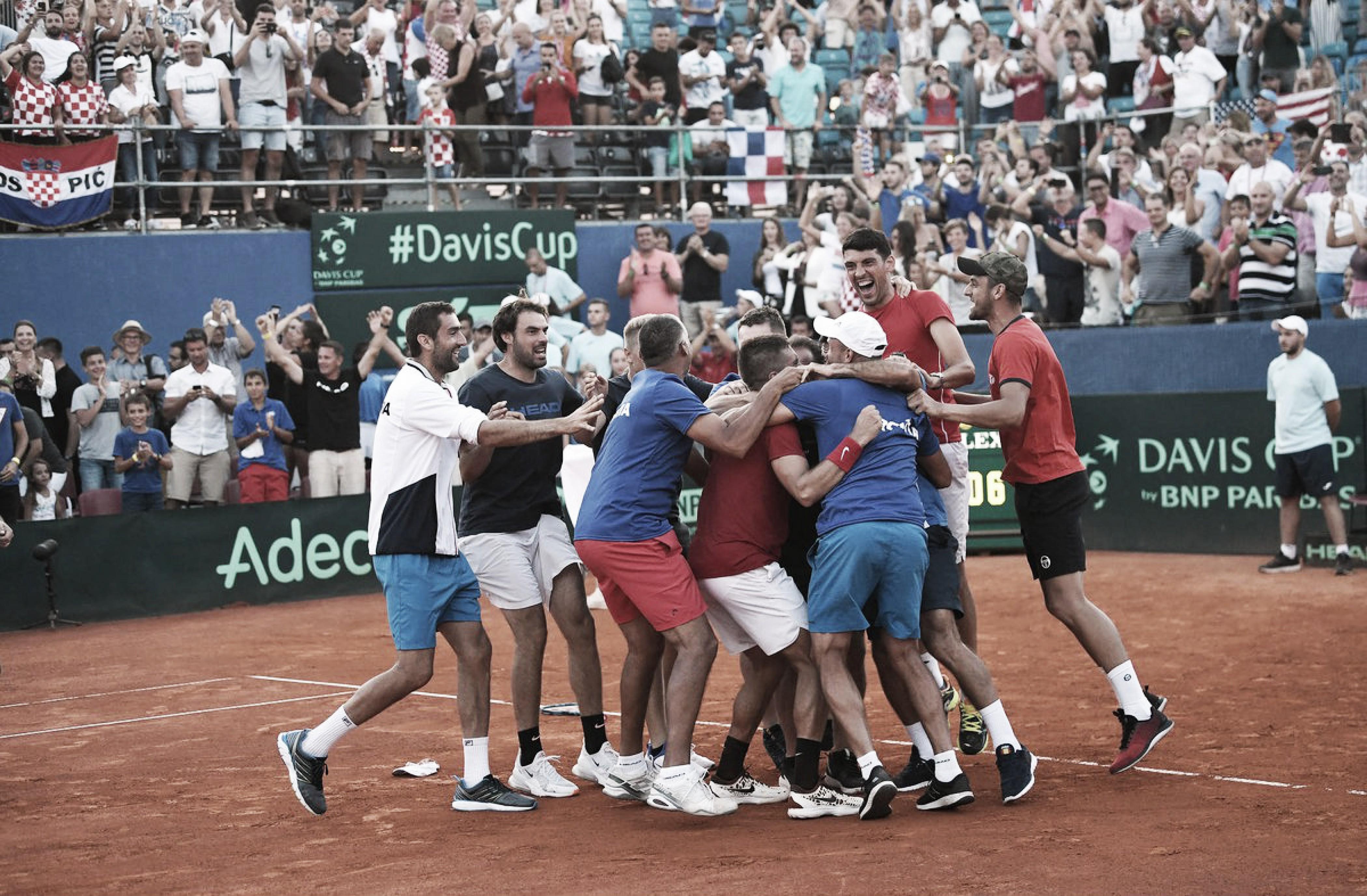 Em jogo épico entre jovens, Coric derrota Tiafoe e coloca Croácia na final da Copa Davis