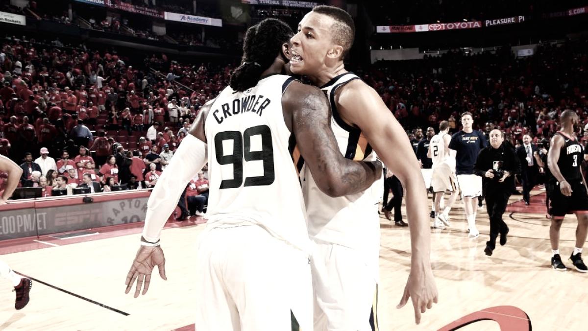 Jazz quebram mando dos Rockets e empatam série na semifinal da Conferência Oeste