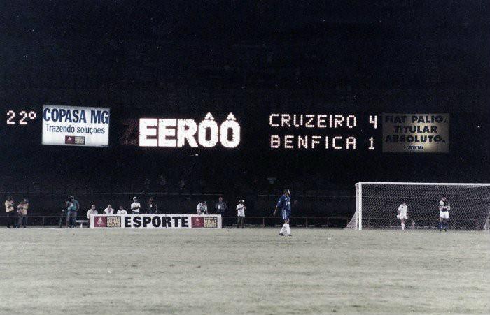 Copa Centenário 20 anos: Benfica decepciona em BH, mas leva gordo cachê para Portugal