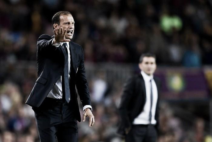 """Allegri lamenta chances desperdiçadas contra Barcelona: """"É preciso marcar"""""""