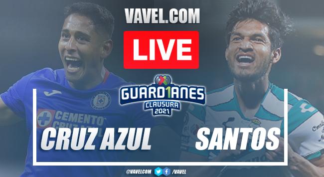 Goals and highlights: Cruz Azul 1-1 Santos in Liga MX 2021