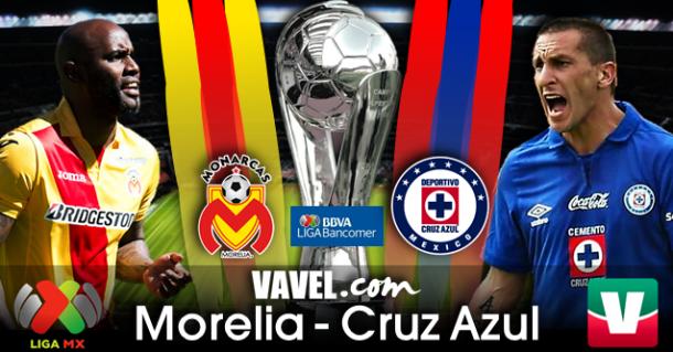 Resultado Monarcas Morelia - Cruz Azul en Liga MX 2014 (5-1)