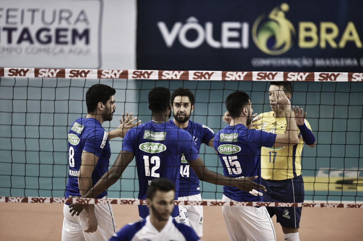 Sada Cruzeiro derrota Fiat/Minas em clássico estadual e segue líder da Superliga