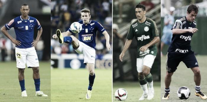 Cruzeiro e Palmeiras anunciam troca de jogadores: Fabiano e Fabrício por Lucas e Robinho