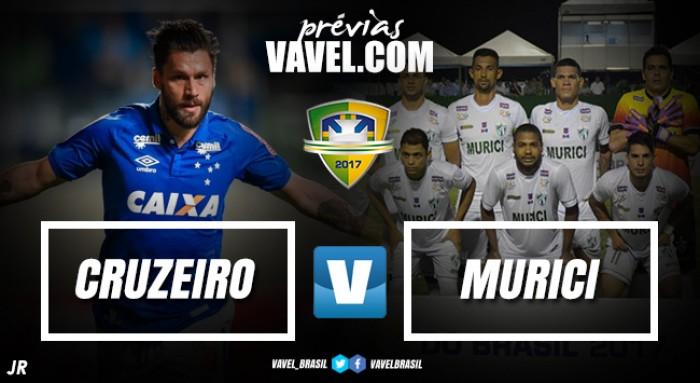 Com Manoel e Henrique poupados, Cruzeiro recebe Murici por avanço na Copa do Brasil