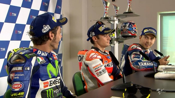 Misano, Rossi-Lorenzo: scintille in conferenza stampa