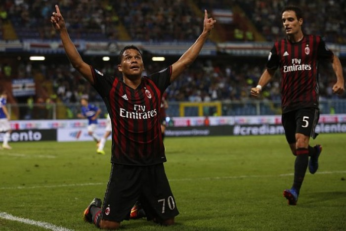 Bacca salva il Milan, la Sampdoria resta al palo (0-1)