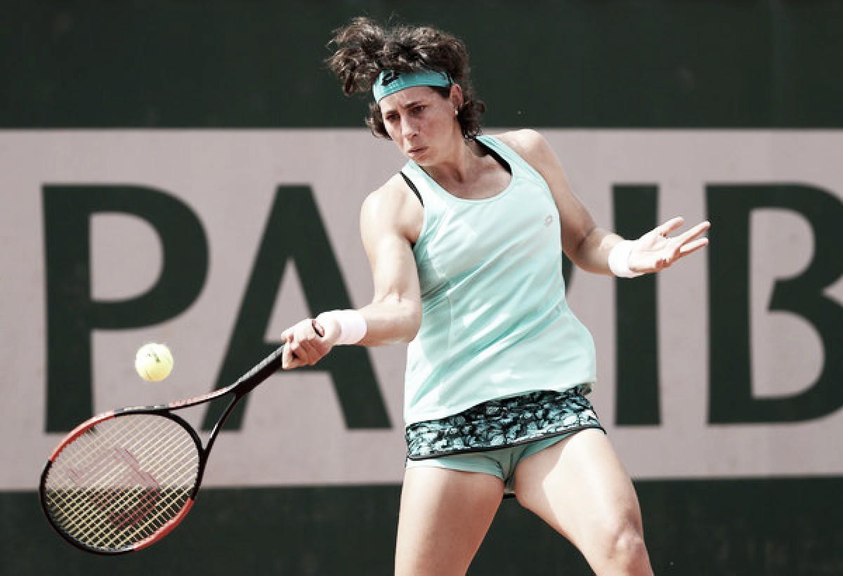French Open: Carla Suarez Navarro breezes past Ana Konjuh in 42 minutes