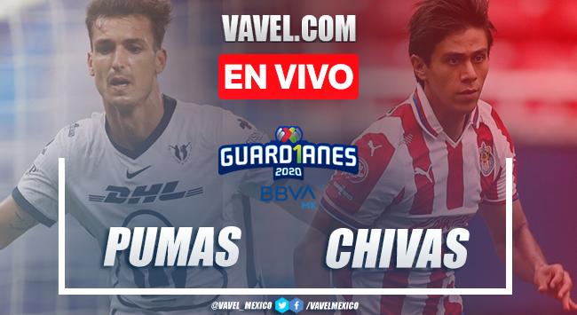 Goles y resumen:Pumas 2-2 Chivas