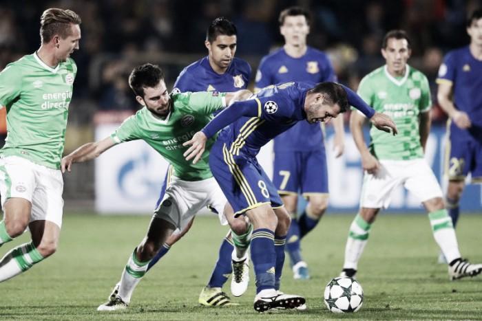 PSV fica no empate com Rostov e vê situação começar a se complicar no Grupo D