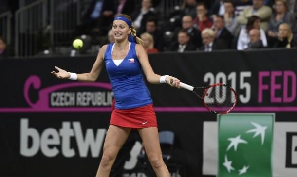 Fed Cup: Kvitova porta il primo punto alla Rep.Ceca