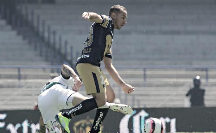 Pumas empató 2-2 en CU