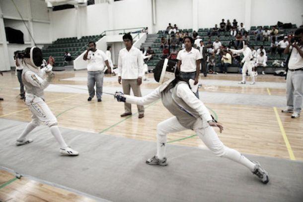 Frania Tejeda, en Campeonato Mundial Juvenil de Esgrima