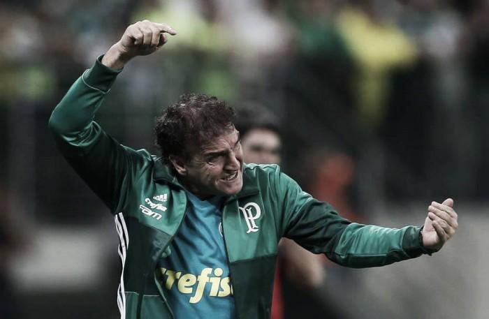 """Cuca celebra goleada do Palmeiras diante do Figueirense: """"Foi uma noite muito boa"""""""
