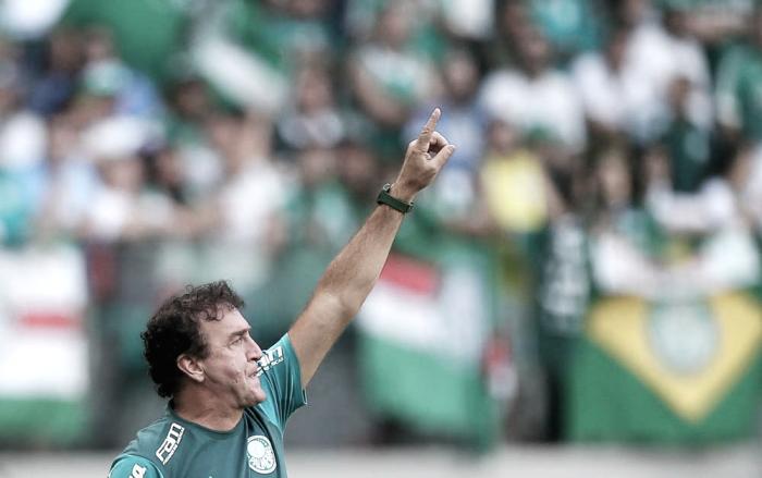 """Cuca aponta regularidade do Palmeiras e pede foco: """"Como é difícil ser campeão"""""""