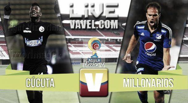 Resultado Cúcuta - Millonarios en la Liga Águila 2015-II (1-1)