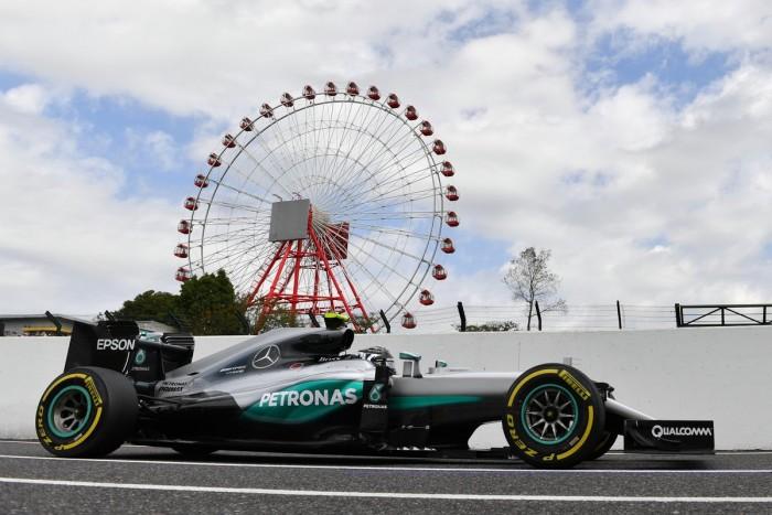Nico Rosberg lidera dobradinha da Mercedes em primeiro treino livre em Suzuka