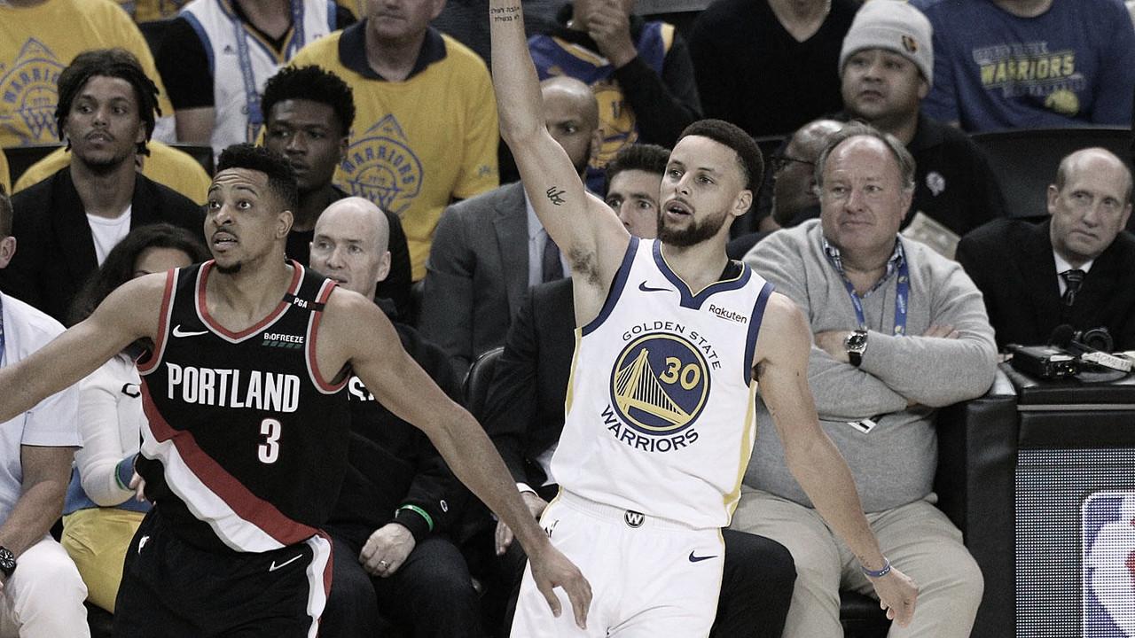Los Warriors dan el primer golpe en las finales de conferencia