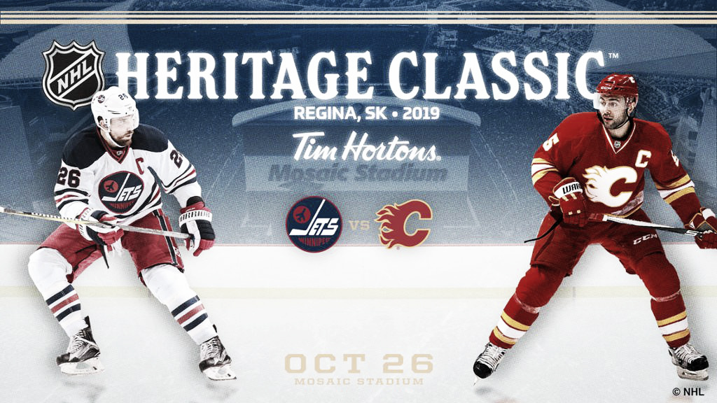 El NHL Heritage Classic 2019 se celebrará en Regina entre Jets y Flames