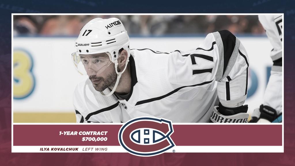 Ilya Kovalchuk firma con Montreal Canadiens
