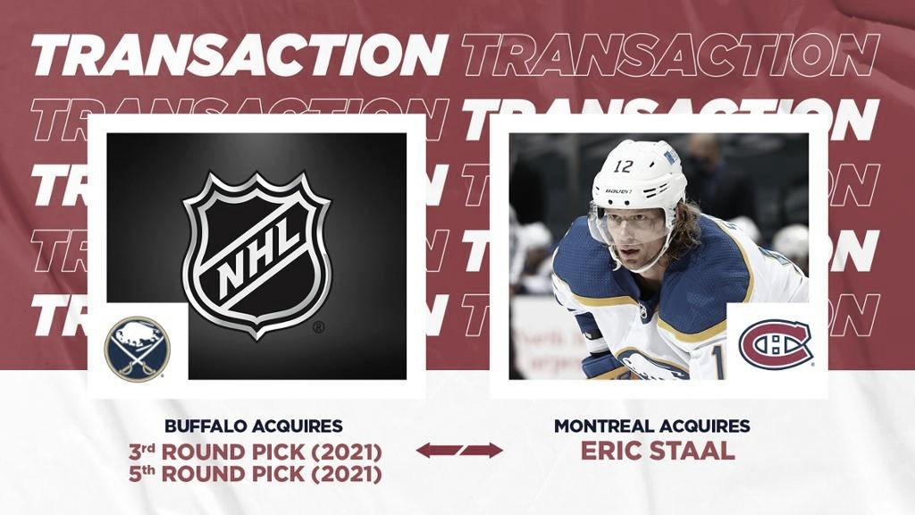Eric Staal es traspasado a los Montreal Canadiens