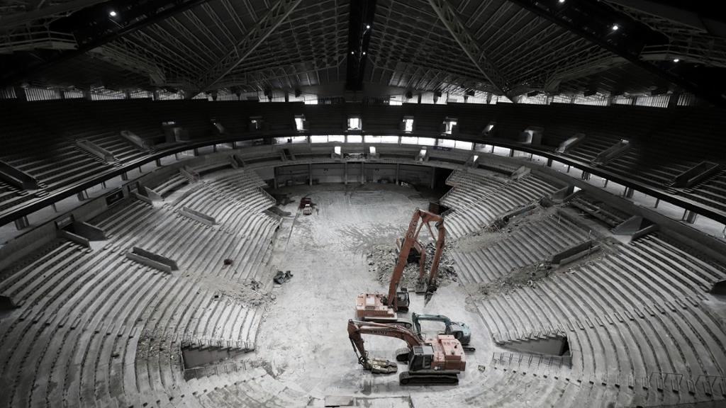 Trabajos en la arena del Seattle Kraken / Foto: NHL.com