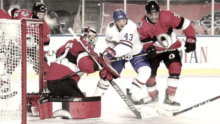 Los Senators vencen a Montreal en el centenario de la NHL