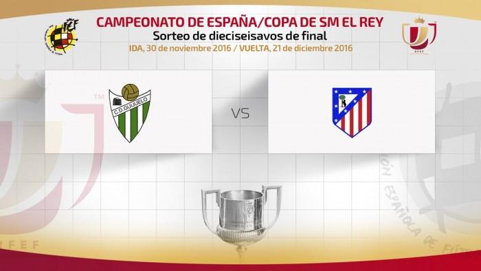 El Atlético se enfrentará al Guijuelo en Copa del Rey