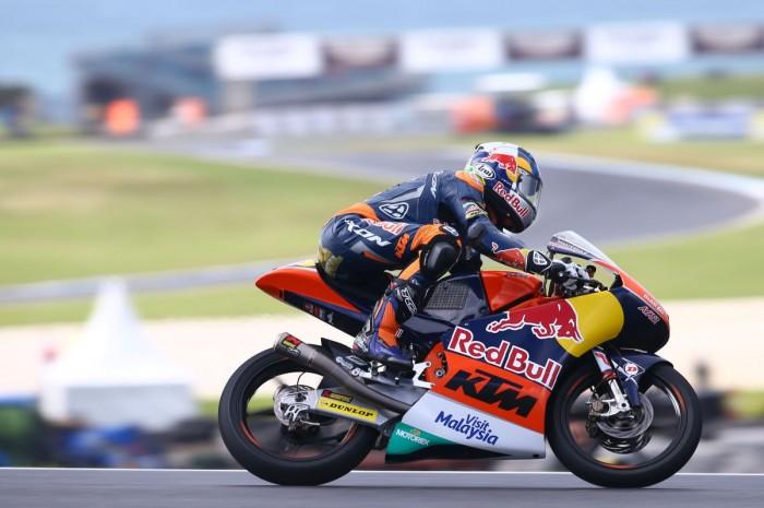 Moto3, Phillip Island: pole di Binder, Bulega e Rodrigo in prima fila