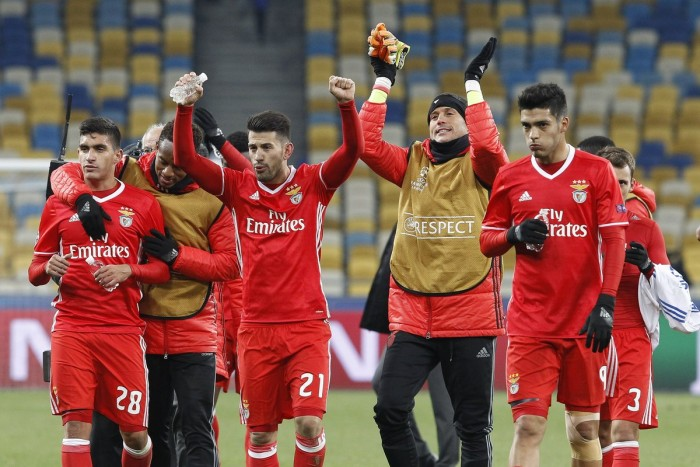 Champions League, Girone B: il Benfica trova la prima vittoria e si rilancia, Dinamo Kiev sempre più ultima