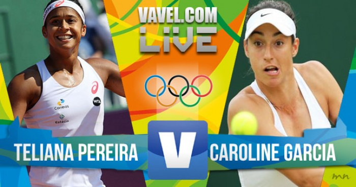 Resultado: Teliana Pereira x Caroline Garcia no tênis feminino dos Jogos Olímpicos (0x2)