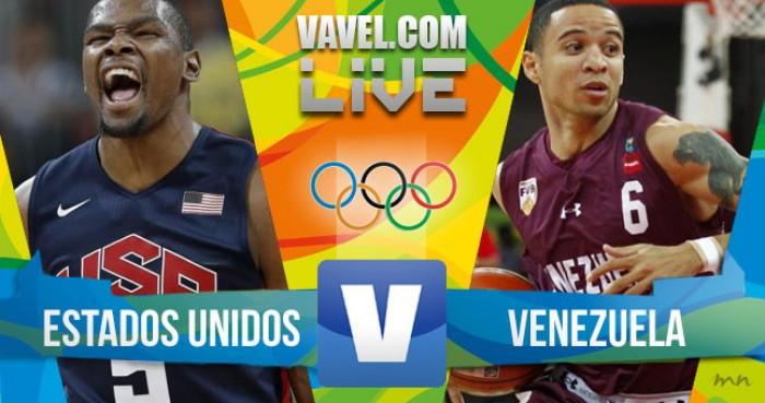 Estados Unidos x Venezuela no basquete masculino dos Jogos Olímpicos